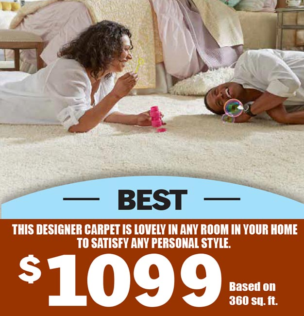 The Best. This designer carpet is lovely in any room in your home to satisfy any personal style. $1099 based on 360 sq ft