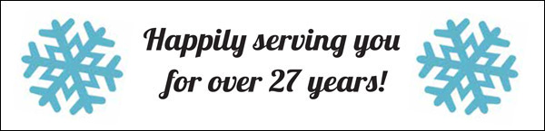 Happily serving you for over 27 years